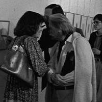 Im kritischen Gespräch mit Jan Hubertus, anlässlich der Vernissage von Ivo Soldini im Gluri-Suter-Huus in Wettingen, 1980