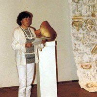 Vernissagerede für Christina Käuferle, Oberrohrdorf, 1985