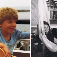 """Auch wenn der Beruf wichtig ist, die Kinder sind und bleiben zentral (Dominik 1981, 9-jährig, Evelyne, 8-jährig an der """"art"""" in Basel, 1986)"""