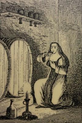 Nonne am Degustieren