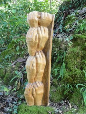 Georgette Klein: Holzskulptur um 1962.